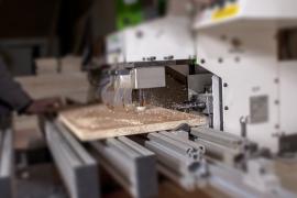 разпробиване на дървени плоскости